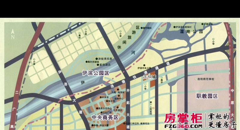 天明城区位图