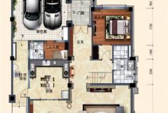 洛阳碧桂园一期G216户型一层 6室2厅7卫1厨