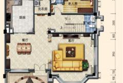 洛阳碧桂园一期G215户型一层 5室2厅6卫1厨