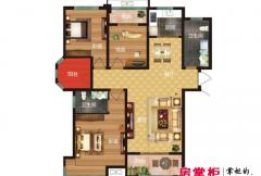 方诚棕榈泉3C户型 4室2厅2卫1厨