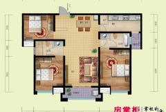 鼎盛国际B3户型(2014-02-25) 3室2厅2卫1厨