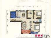 君河湾一期5#楼B1户型 3室2厅1卫1厨