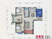 君河湾一期5#楼B2户型 3室2厅1卫1厨