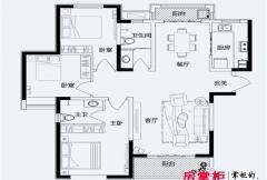 君悦蓝庭一期C户型 3室2厅2卫1厨