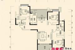 盛唐至尊三期1号楼A3-01户型 3室2厅2卫1厨