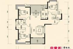盛唐至尊三期1号楼A2-01户型 3室2厅2卫1厨