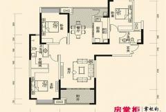 盛唐至尊三期1号楼A4-01户型 3室2厅2卫1厨
