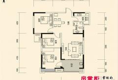 盛唐至尊三期1号楼A1-01户型 3室2厅1卫1厨