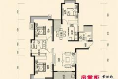 盛唐至尊三期2号楼B1-01户型 3室2厅2卫1厨