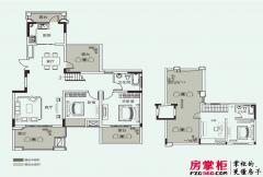 开元壹号A-6户型 4室2厅2卫1厨