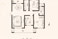 建业桂园高层17/19/20号楼 C /C6户型 3室2厅2卫1厨