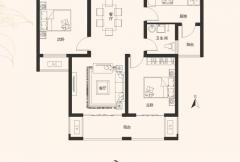 建业桂园高层17/19号楼A2户型 2室2厅1卫1厨