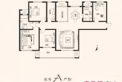 建业桂园高层20号楼A户型 4室2厅2卫1厨