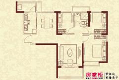 恒大绿洲八期67号楼1单元户型 3室2厅1卫1厨