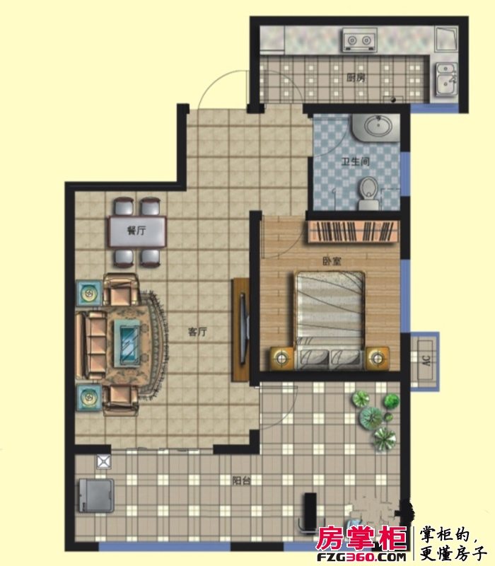 京熙帝景二期优+A2户型 2室2厅1卫1厨