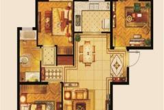 京熙帝景A1户型 2室2厅1卫1厨