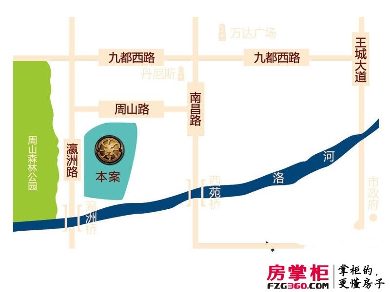 京熙帝景交通图