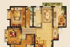 京熙帝景B1户型 3室2厅2卫1厨