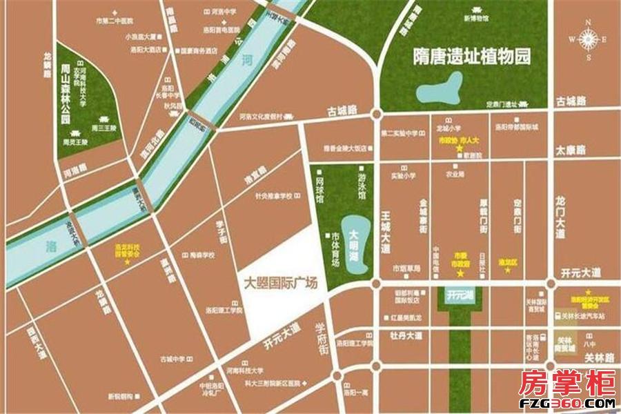大�坠�际广场区位图