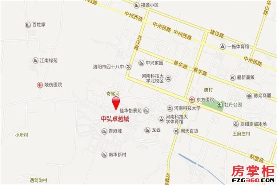 中弘卓越城交通图