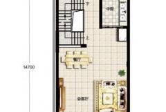 香龙湾Fb1户型地上二层