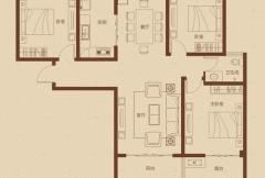 大�坠�际广场一期2/5号楼奇数层C4户型3室2厅1卫1厨