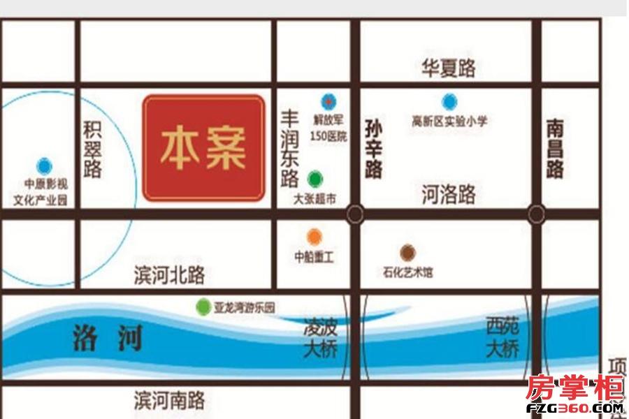洛阳中南广场区位图