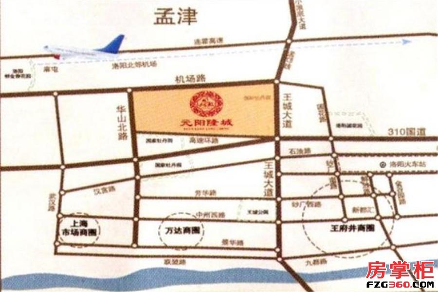 元阳隆城交通图