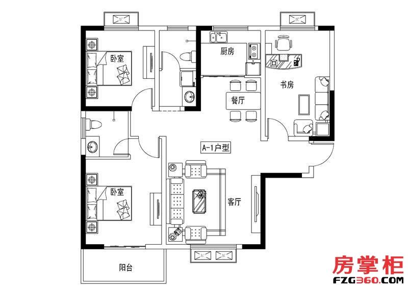 元阳隆城10号楼A1户型
