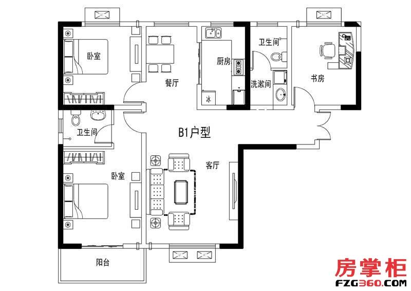 元阳隆城二期B1户型