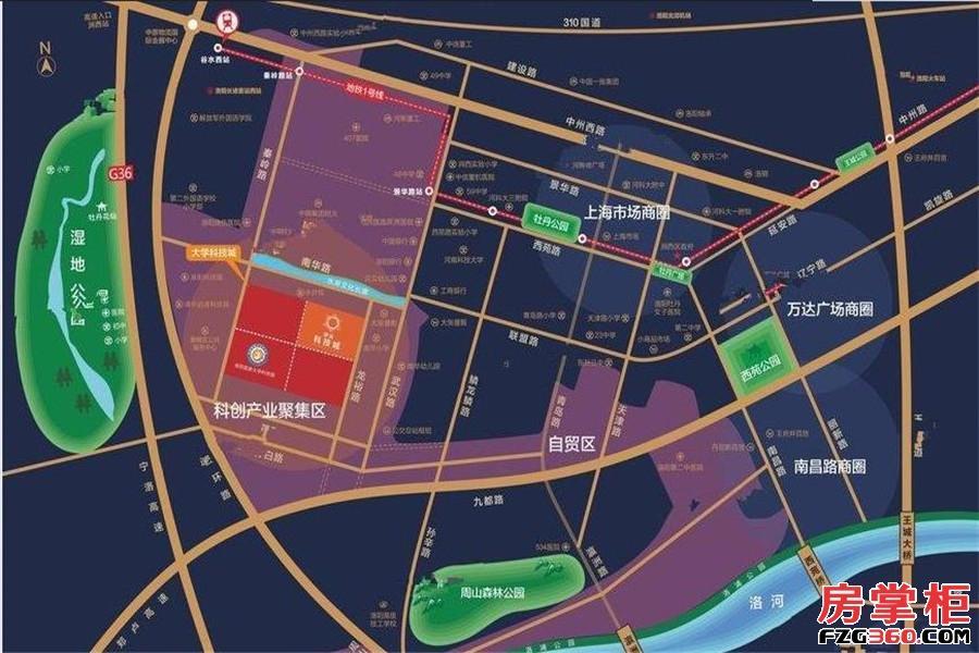 建业科技城交通图