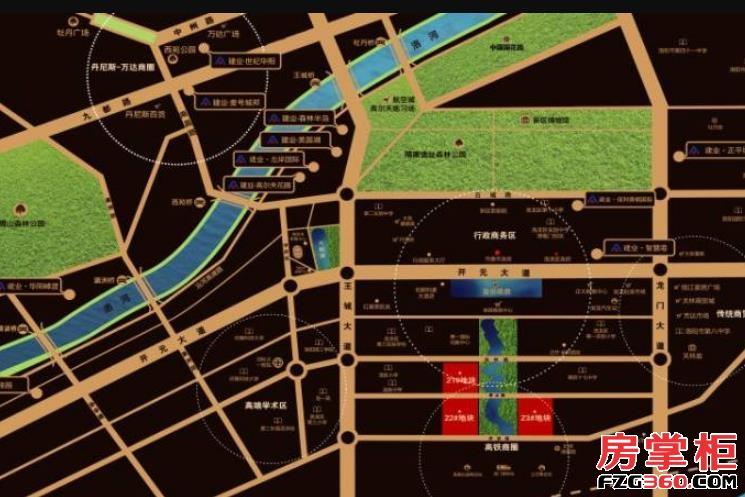 建业龙城交通图
