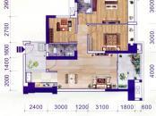 中房·柳铁新城B-2户型 3室2厅2卫1厨