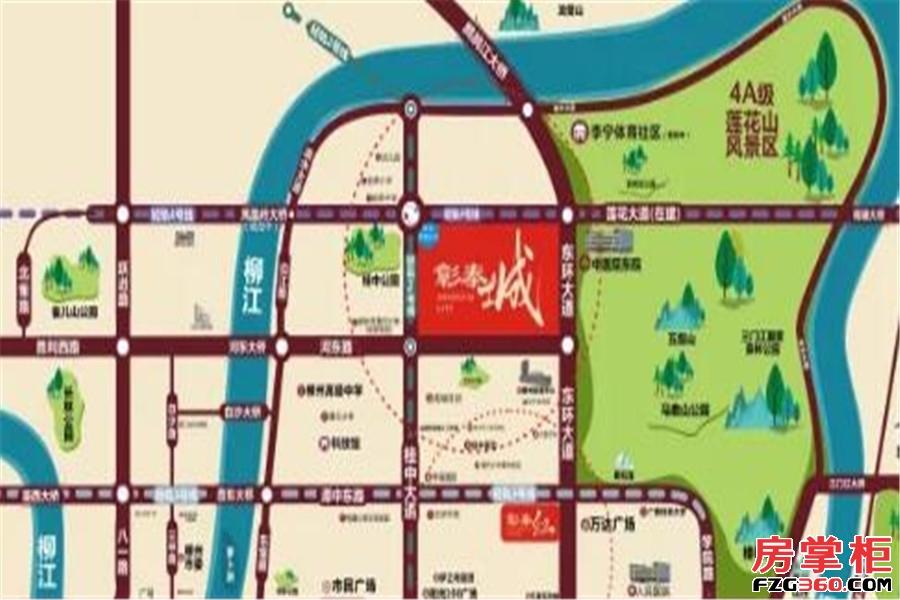 彰泰城交通图