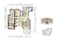 華融琴海灣6棟高層C1戶型 4室2厅2卫1厨 170.00㎡
