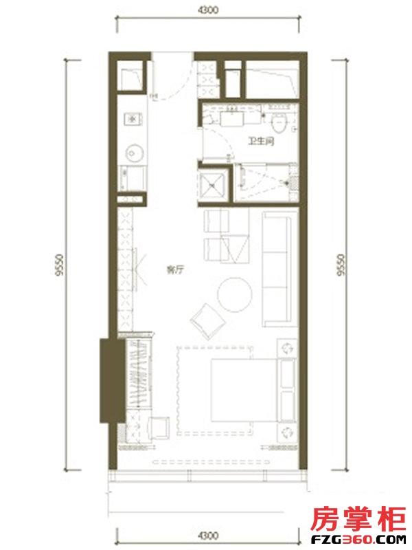 中冶盛世國際廣場金领公寓户型