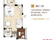 五洲東方墅別墅G戶型地上三層