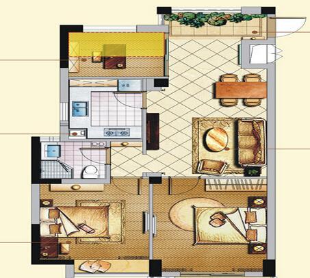 橄榄树雅苑a1户型91㎡3房2厅1厨1卫360度全方位解读