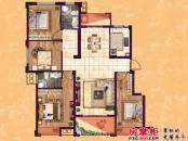 东方香颂户型图项目一期D1户型 3室2厅2卫1厨