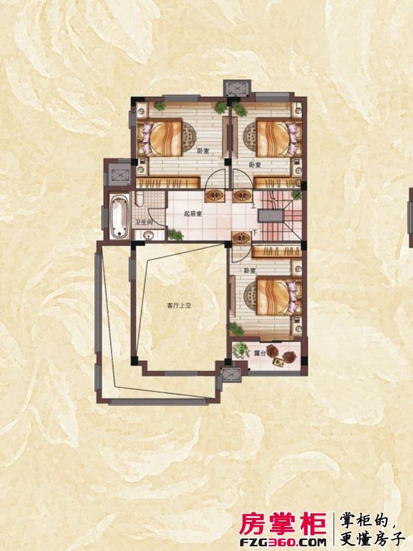 银亿上尚城户型图宽庭香墅 3室2厅1卫1厨