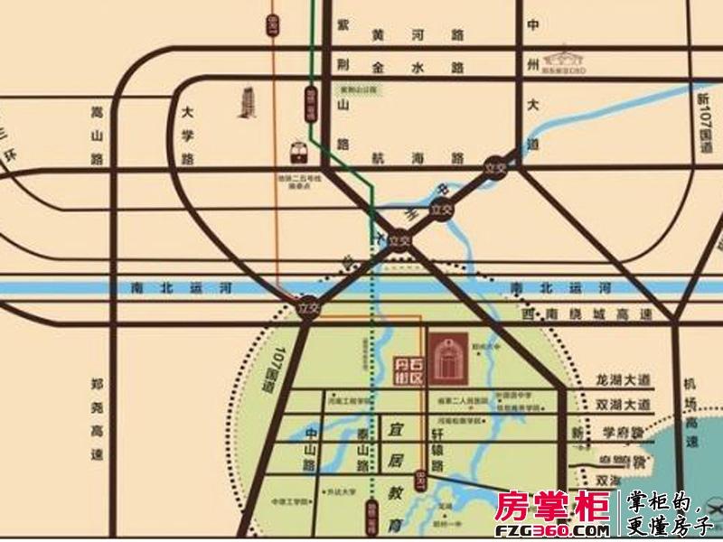 绿都丹石街区交通图区位示意图