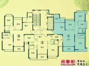 南昌恒大绿洲户型图四期11、12、13号楼1单元东端户型 4室2厅2卫1厨