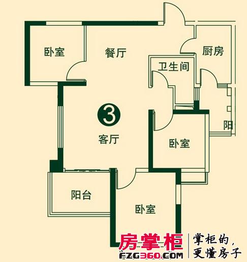 二期1、2号楼1单元2、3号户型