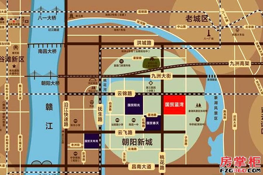 国贸蓝湾区位图