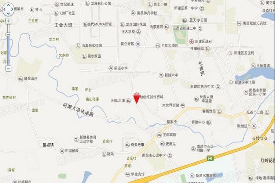 香江君之家建材家居广场区位图