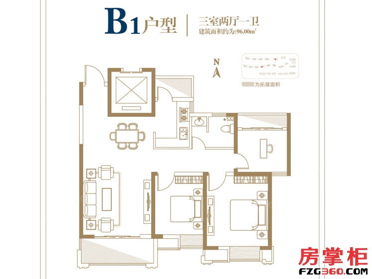银城江畔 B1户型