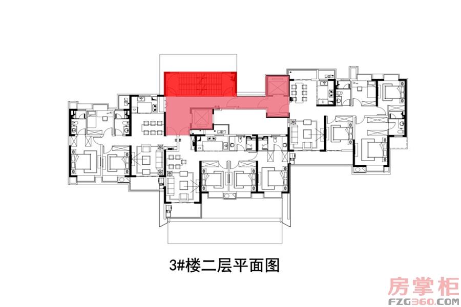 7#楼二层平面图