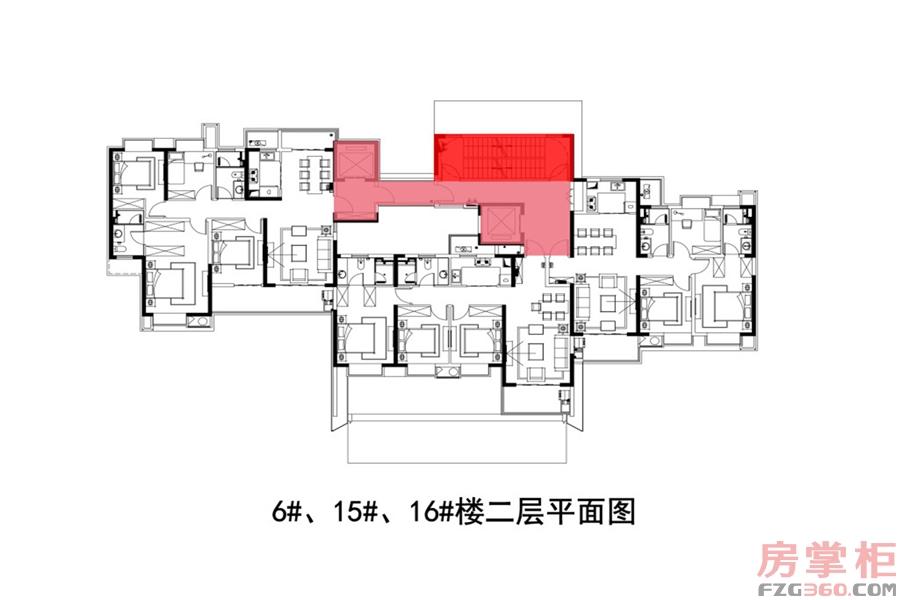 6# 15# 16#楼二层平面图