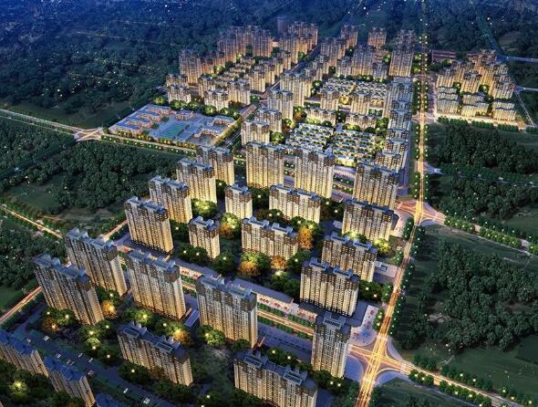 中建锦绣城效果图 中建锦绣城位于青岛西海岸经济开发区,项目整体分为南、北两个地块,总建面约150万;中建锦绣城I地块位于南区,建筑面积130664.8,由7栋18-26层的新中式建筑风格的高层组成,户型为85-130的套一、套二、套三,所有户型设计方正,南北通透全明,容积率2.8,绿地率35%。