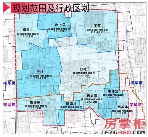 石家庄市藁城区地图